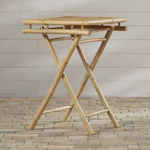 Bay Isle Home Porter Folding Bamboo Side Table