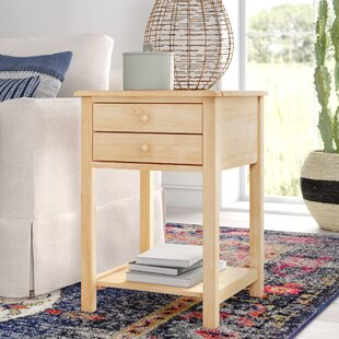Lynn Wood End Table With Storage