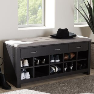 Charlton Home Upholstered Storage Bench