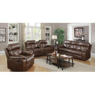 Amidon Motion 3 Piece Reclining Living Room Set by Canora Grey SKU:CC195318 Purchase
