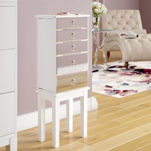 Best Reviews Asotin Jewelry Armoire with Mirror ByHouse of Hampton