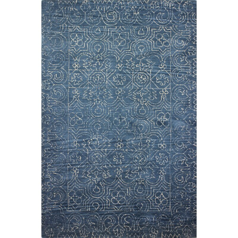 Oriental Handmade Tufted Wool Azure Area Rug Reviews Birch Lane