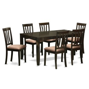 Lockmoor 7 Piece Solid Wood Dining Set by Red Barrel Studio Best Choices