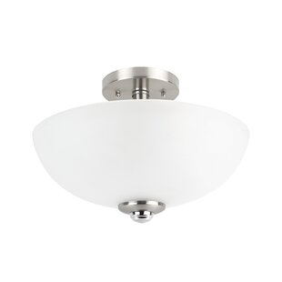 Updike 2-Light Semi-Flush Mount by Red Barrel Studio
