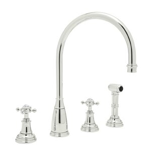 Rohl Perrin and Rowe Double Handle Kitchen Faucet