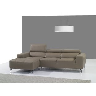 Orren Ellis Alden Leather Sectional