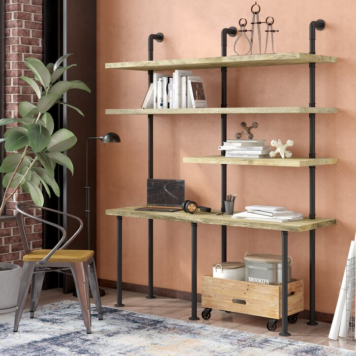timeless design 13876 eb35c Indiana Solid Wood Leaning/Ladder Desk