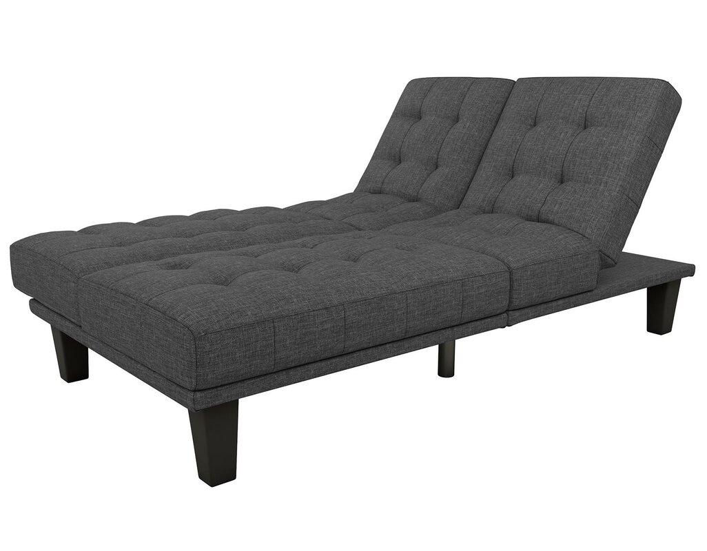 haysi futon lounger convertible sofa wade logan haysi futon lounger convertible sofa  u0026 reviews   wayfair