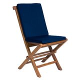 Ezell 7 Piece Teak Dining Chair Set with Cushions