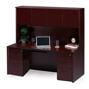 Mayline Group Corsica Series Executive Desk with Hutch