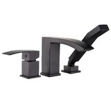 Twinsburg Single Handle Deck Mounted Roman Tub Faucet Trim with Diverter and Handshower
