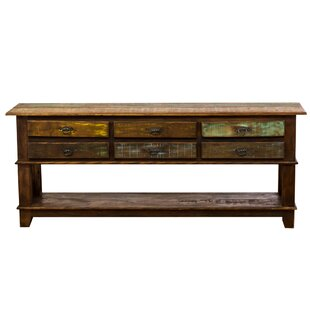 Loon Peak Orris 6 Drawer Bottom Shelf Console Table