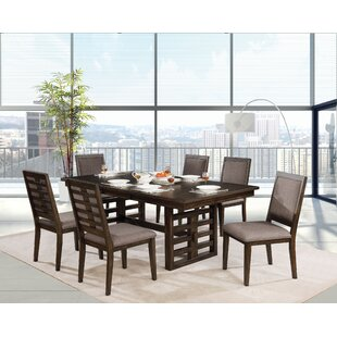 Hendina 7 Piece Dining Set World Menagerie
