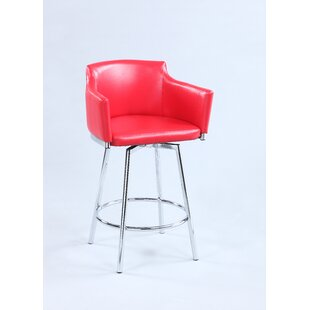 Carressa 30 Swivel Bar Stool by Orren Ellis