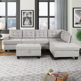 Celus 104.7 Right Hand Facing Sofa & Chaise with Ottoman by Latitude Run®