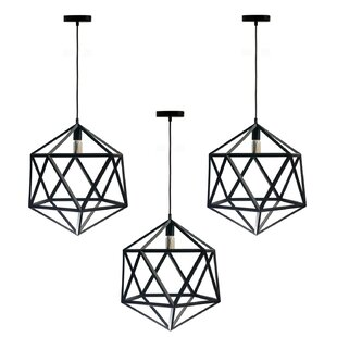 Wrought Studio Braxton 1-Light Geometric Pendant (Set of 3)
