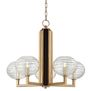 Compare Rawley 5-Light  LED Shaded Chandelier By Mercer41