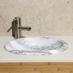 Allstone Group Stone Oval Drop-In Bathroom Sink