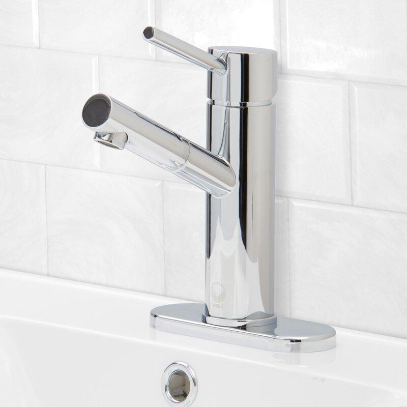 VIGO Noma Single Lever Basin Bathroom Faucet with Deck Plate ...