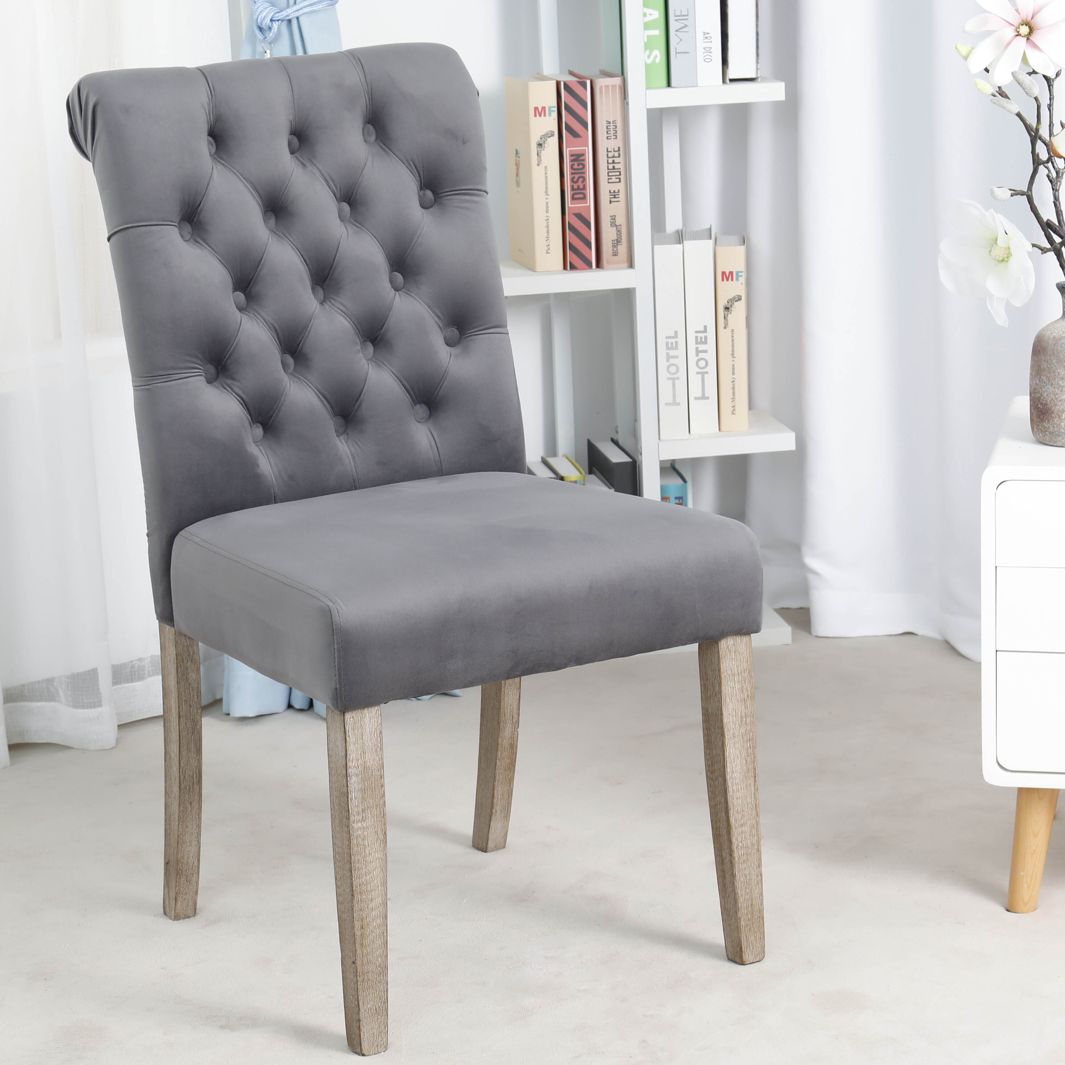 Kamron High Back Tufted Upholstered Dining Chair