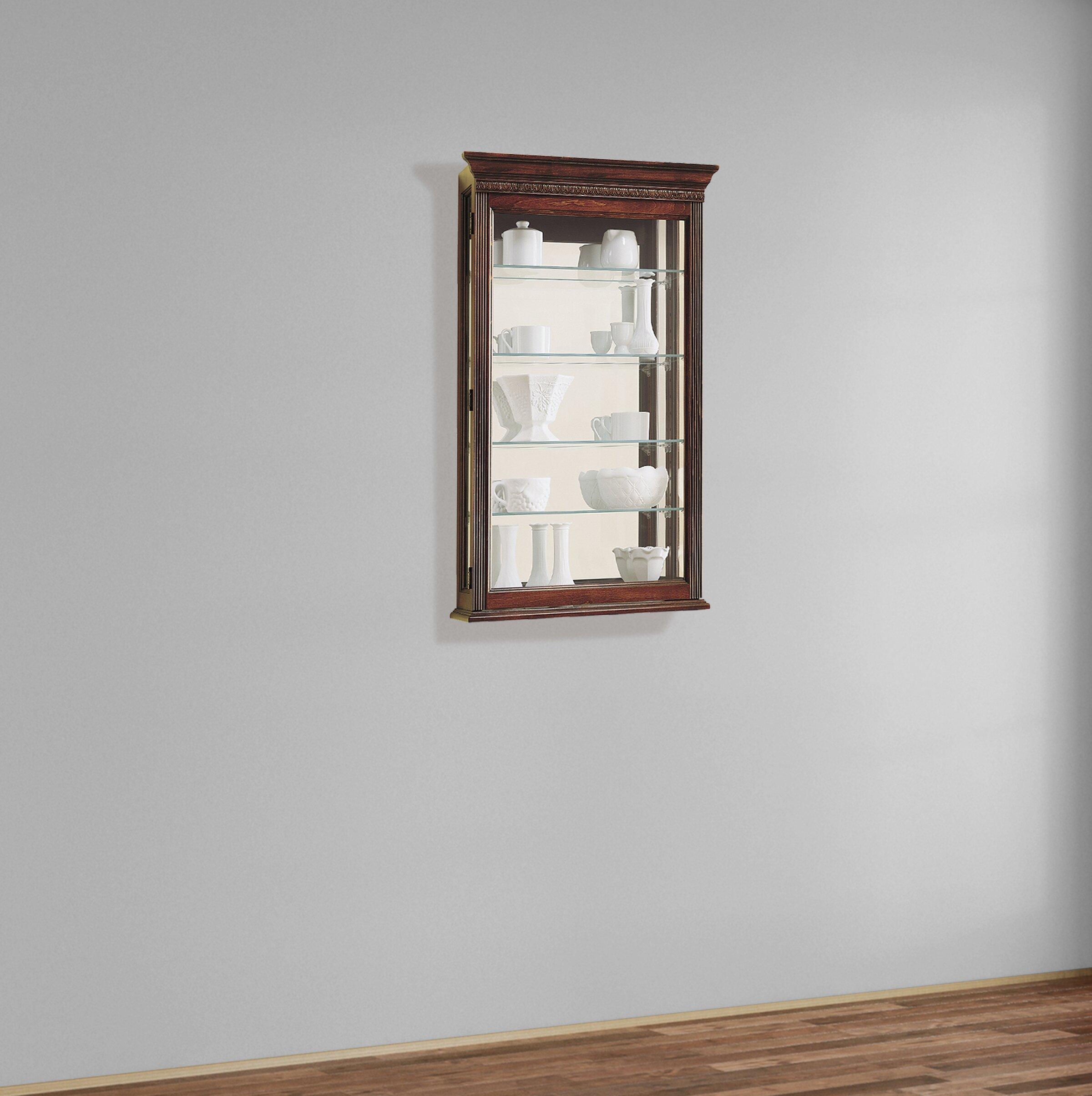 Carmelita Wall Mounted Curio Cabinet
