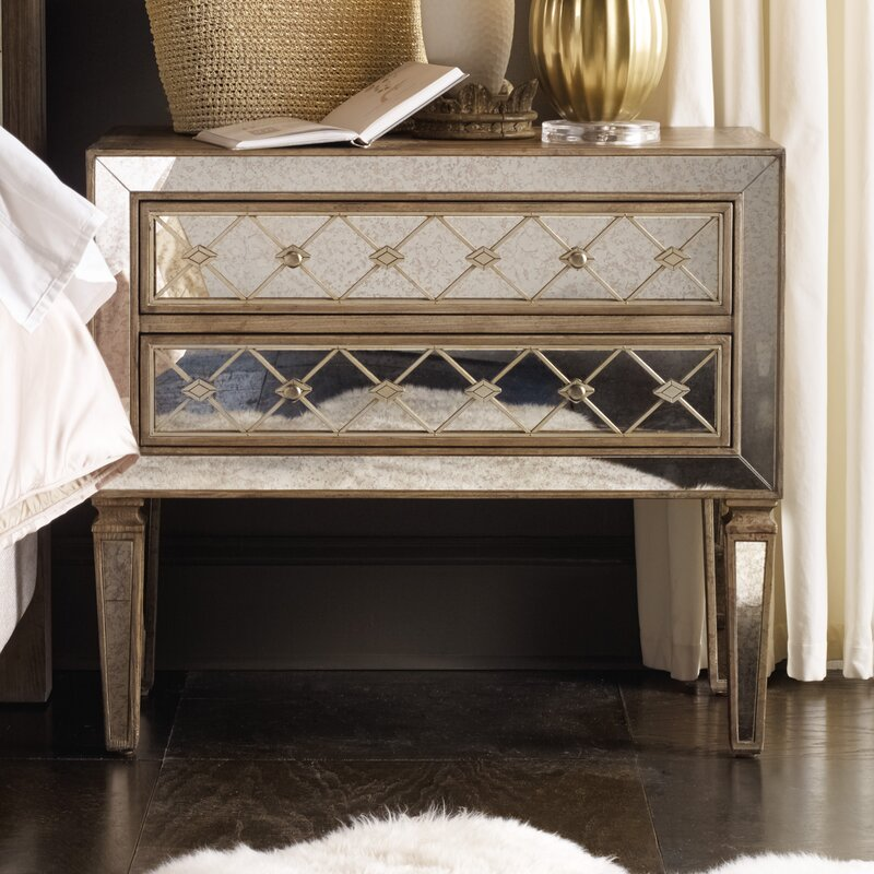 sanctuary 2 drawer nightstand