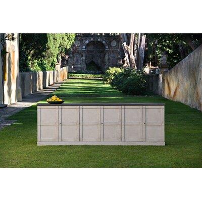 """Gracie Oaks Moncure 112"""" Wide Pine Wood Sideboard"""