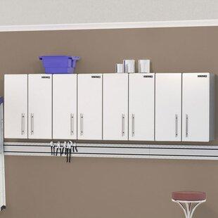 Ulti MATE Storage 2.5u0027 H X 8u0027 W X 1u0027 D 4 Piece Wall Cabinet Set