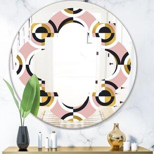 Quatrefoil Geometric Circular I Modern Frameless Wall Mirror by East Urban Home