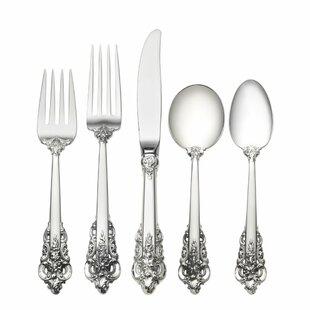 Sterling Silver Grande Baroque 46 Piece Flatware Set, Service for 8