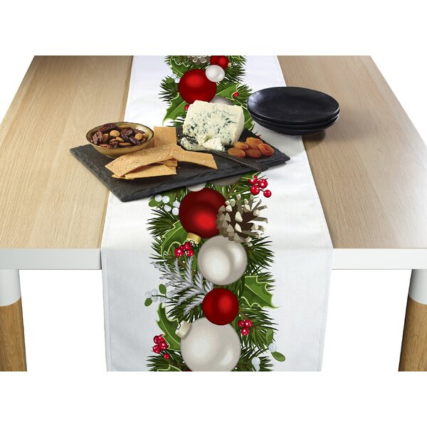 Engle Christmas Garland Border Table Runner