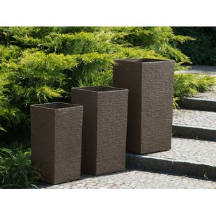 Adelina 3 Piece Stone Plant Pot Set By Freeport Park
