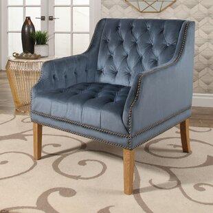House of Hampton Odell Manor Tufted Velvet Arm Chair