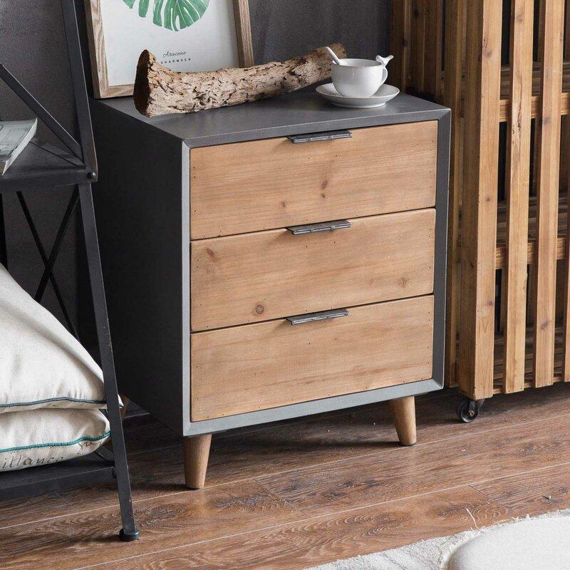 Minimalist 3 Drawer Wooden Cabinet Chest