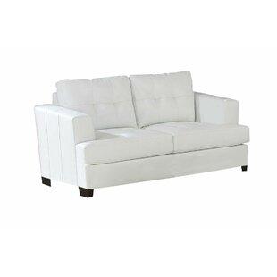 Bruening Upholstered Love Seat by Winston Porter