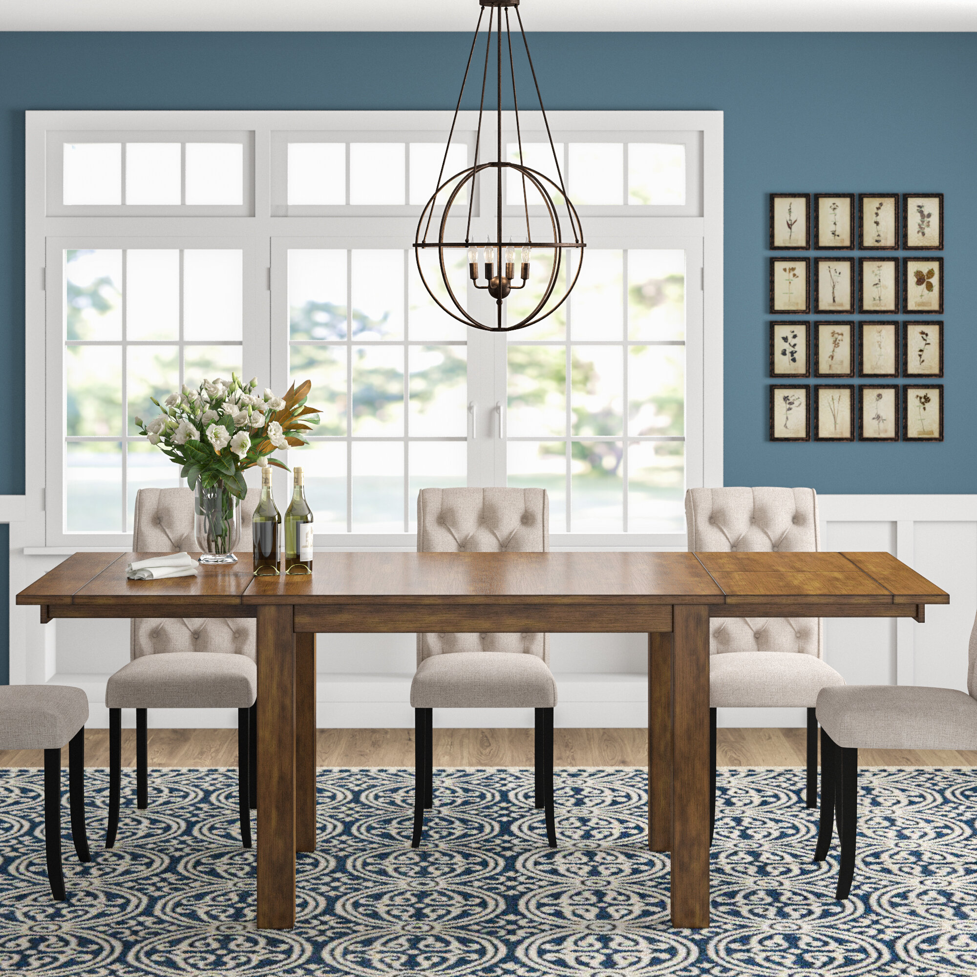 Stuart Counter Height Extendable Solid Wood Dining Table Reviews Birch Lane
