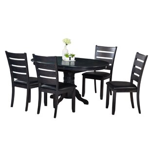 Maryrose 5 Piece Solid Wood Dining Set wi..