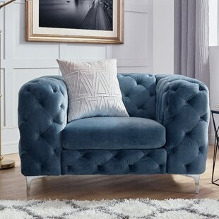 Kogan Tufted Chesterfield Chair by House of Hampton