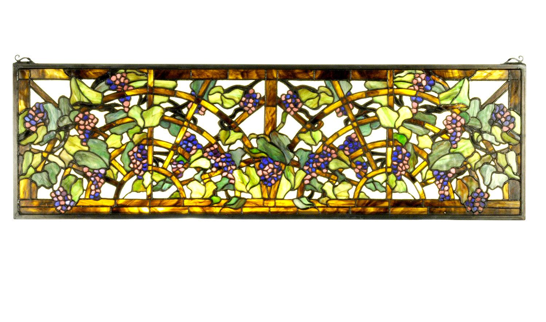 Meyda Tiffany Tiffany Grape Arbor Stained Glass Window | Wayfair