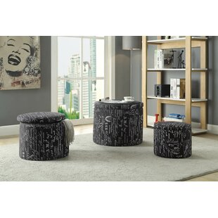 Helzer Storage Ottoman (Set of 3) by Alcott Hill