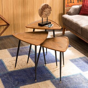 Read Reviews Derick 3 Piece Nesting Tables by Corrigan Studio