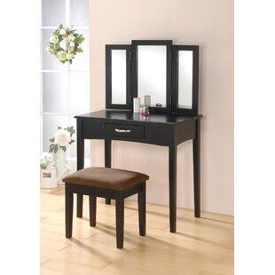 Charlton Home Kaitlin Vanity Set with Mirror