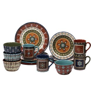 Brimson 16 Piece Dinnerware Set, Service for 4