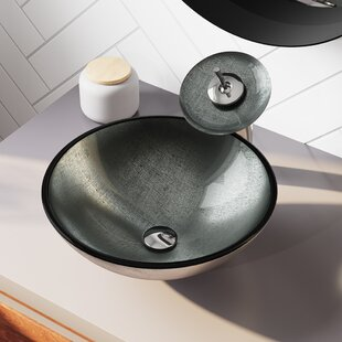 Searching for Mesh Glass Circular Vessel Bathroom Sink ByMR Direct