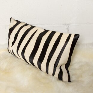 Graham Zebra Leather Lumbar Pillow