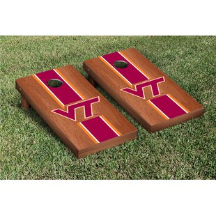 Victory Tailgate NCAA Rosewood Stained Stripe Version 1 Cornhole Game Set