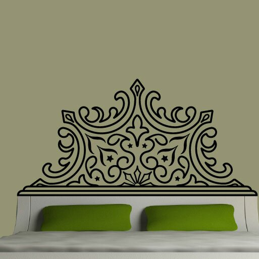 Pointed Luxe Headboard Vinyl Wall Decal