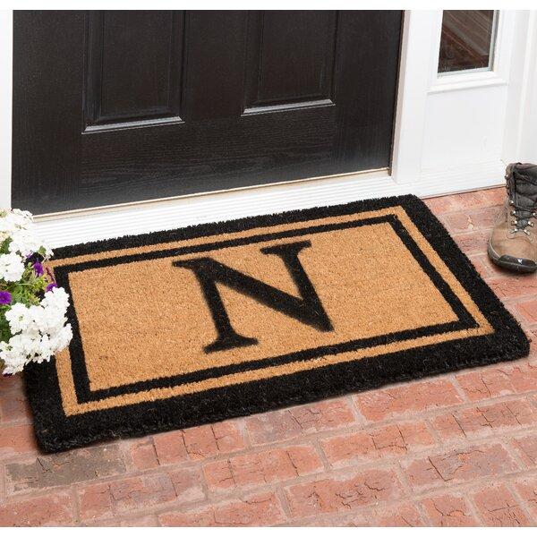 Babbie Your Own Monogrammed Welcome 36 In. X 22 In. Outdoor Door Mat by Birch Lane