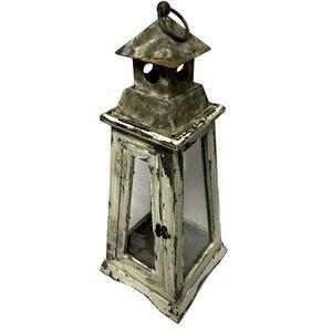 Lighthouse Candle Wood Lantern