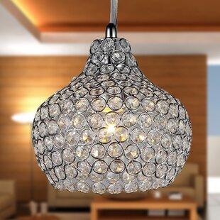 House of Hampton Anniston 1-Light Crystal Pendant
